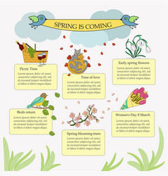 Springtime infographic vector