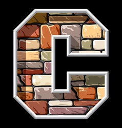Stone letter c vector
