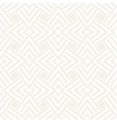 Subtle ornament with striped rhombuses vector