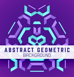 violet purple blue abstract geometric background vector image vector image