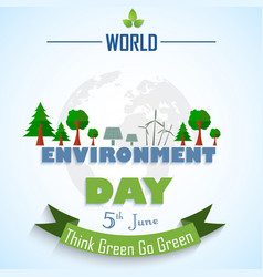 world environment day background with globe and gr vector image vector image
