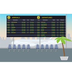 Information board of arrival and departure in the vector