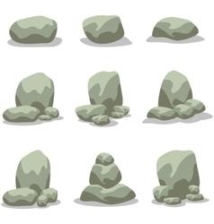 Rock element design of art vector image