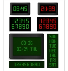 Electronic clock vector