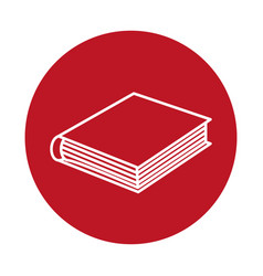 Academic book icon vector