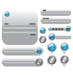 Web elements set icon vector