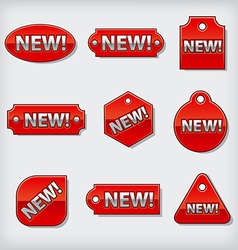 new tags vector image