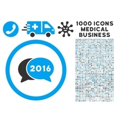 2016 Chat Icon with 1000 Medical Business Symbols vector image vector image