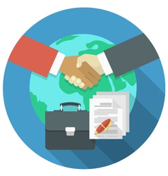 International business cooperation vector