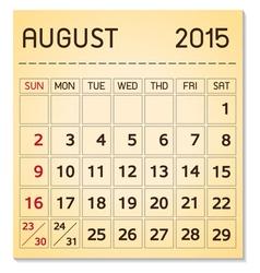 Calendar 2015 08 august vector