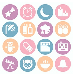 Icons deep sleep vector