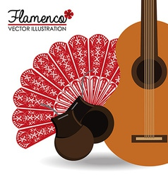 Flamenco design vector image