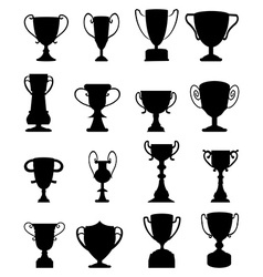 Trophies icons set vector