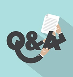 Question and answer typography design vector