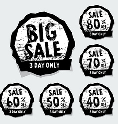 Big sale stamps with badge and label vector