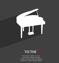 Grand piano symbol flat modern web design with vector