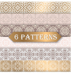a collection of seamless wedding patterns vector image vector image