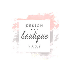 Boutique design logo badge for fashion clothes vector