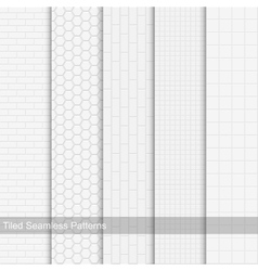 Collection of tile textures seamless vector image vector image