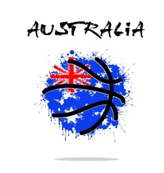 Flag of Australia as an abstract basketball ball vector image