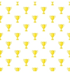 Gold cup pattern cartoon style vector