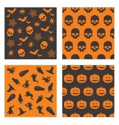 Halloween patterns vector image vector image