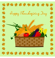 Happy-thanksgiving-day-basket vector
