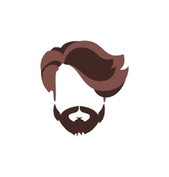 Hipster male hair and facial style with volume vector