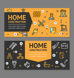 home repair flyer banner posters card set vector image vector image