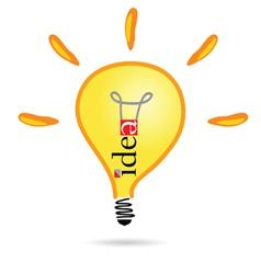 idea bulb part two vector image