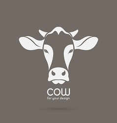 Image of a cow head design vector