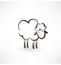 Lamb grunge icon vector