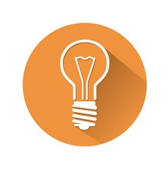 lamp symbol vector image vector image