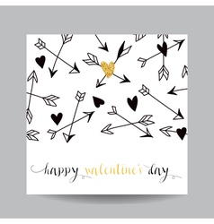Love card with arrows - wedding valentines day vector