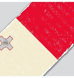 Maltese grunge flag vector