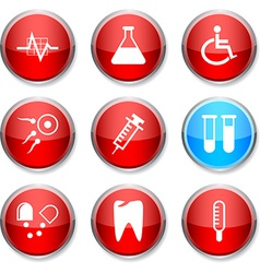 Medical round icons vector