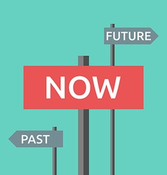 Now past and future vector image vector image