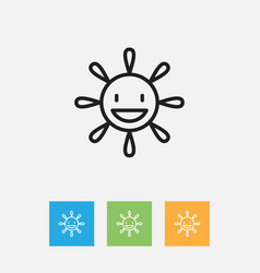 Of climate symbol on funny sun vector