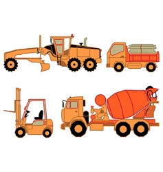 onstruction cars vector image