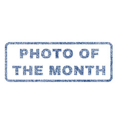 photo of the month textile stamp vector image vector image