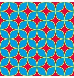 Pink stars geometric seamless pattern vector image