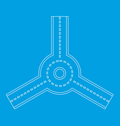 Roundabout icon outline style vector