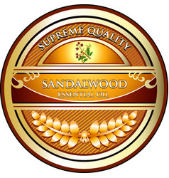 sandalwood essential oil vector image vector image