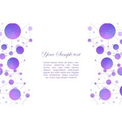 scientific background with molecules vector image