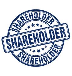 Shareholder blue grunge stamp vector