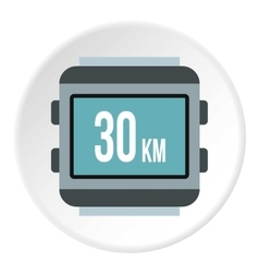 Speedometer for bike icon flat style vector