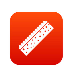Sponge for cleaning icon digital red vector