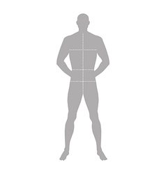Fashion man full length outlined template vector