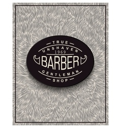 Poster design for barbershop vector