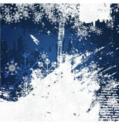 Christmas decoration grunge background vector image